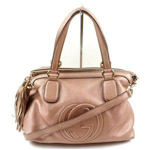 Auth Gucci Soho Convertable Pink #4076G32